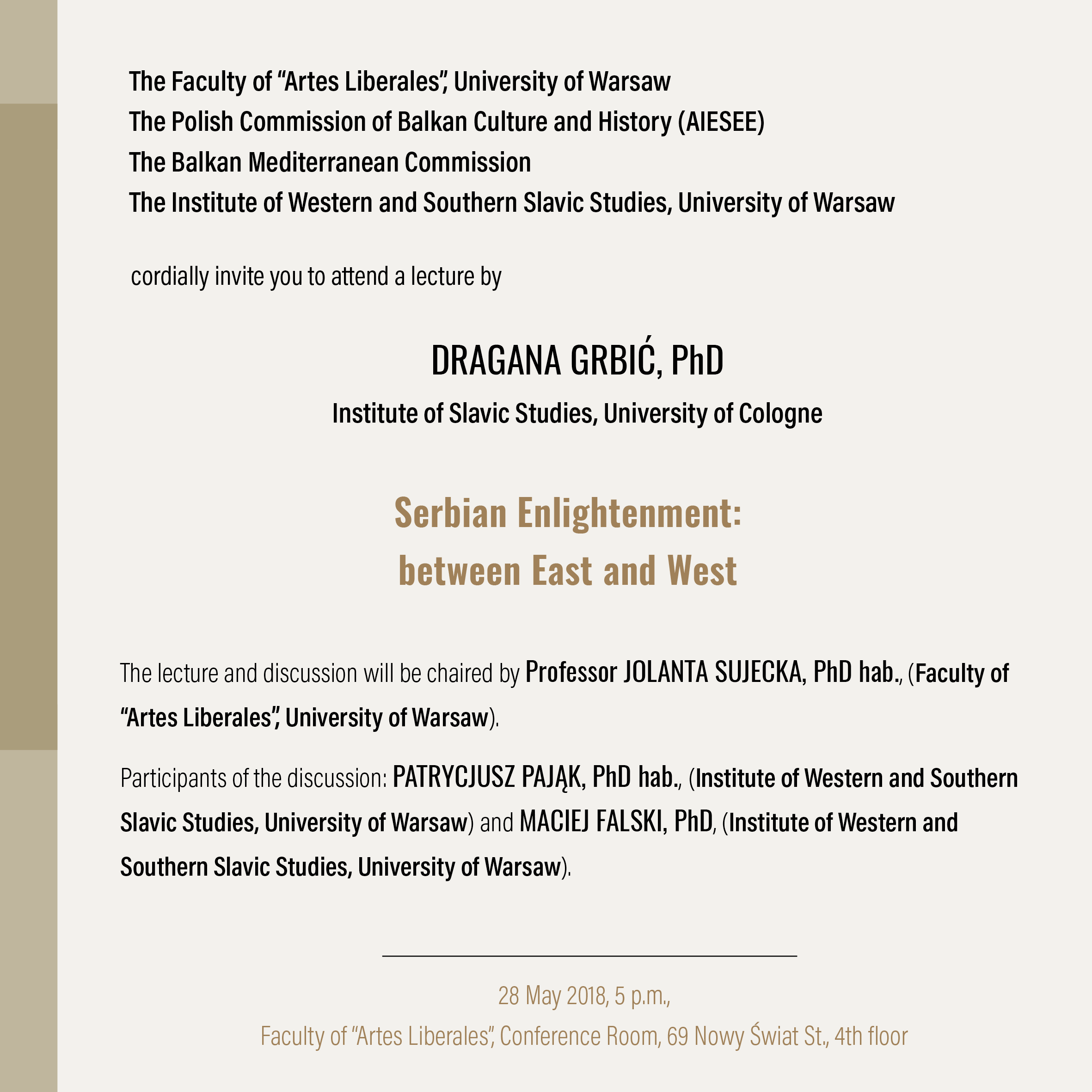DRAGANA GRBIĆ lecture